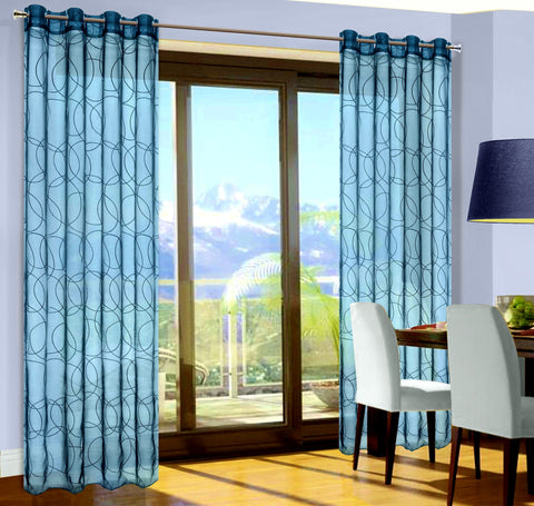 Turquoise Voile Curtain Panels - Amazing Curtains