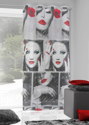 "Modern Voile Panel ""KISS"" - AmazingCurtains"