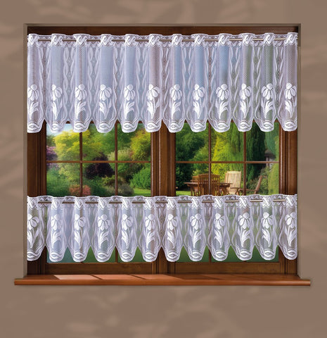 White Jardiniere Cafe Net Curtain - Amazing Curtains