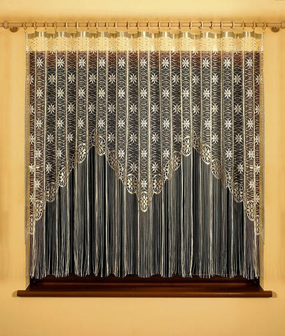 Gold Jardiniere Net Curtain with Strings
