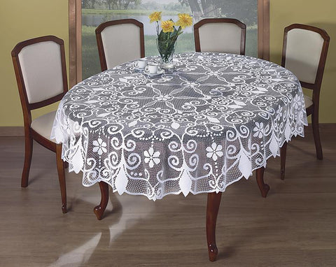Large White Tablecloth 160 x 220cm