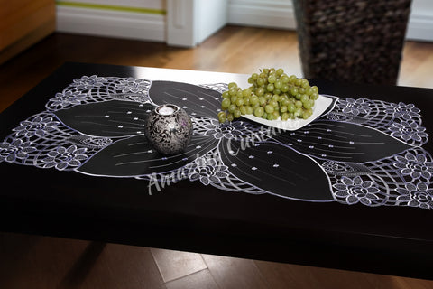 Black Table Runner - 60 x 120cm - AmazingCurtains