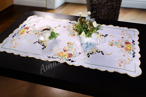 Easter Tablecloth with Easter Sheep - 60 x 120cm