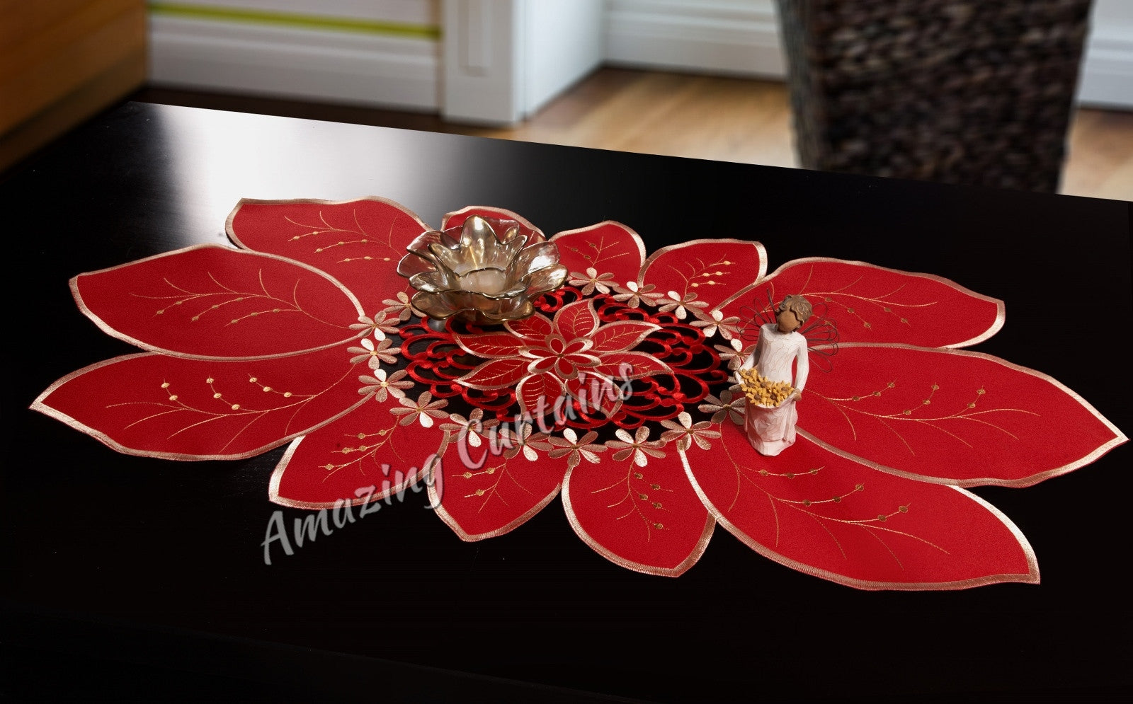 red table runners 3 sizes amazingcurtains