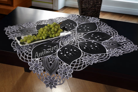 Black Square Tablecloth 85 x 85cm - AmazingCurtains