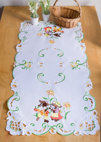 Easter Tablecloth with Bunnies - 50 x 100cm