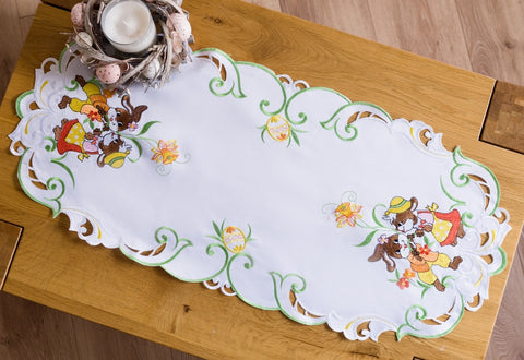 Easter Tablecloth with Bunnies - 40 x 85cm