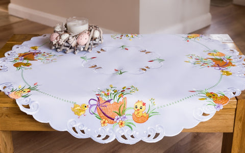 Round Large Easter Tablecloth - 85cm