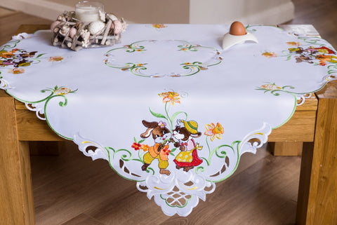 Square Tablecloth with Easter Bunnies 85 x 85cm