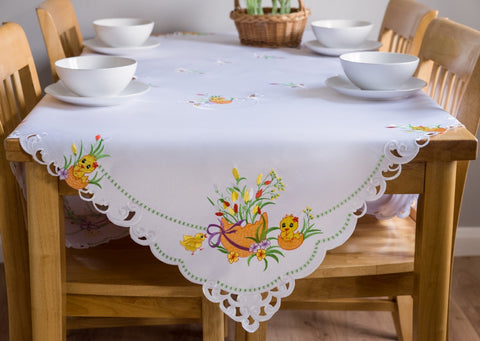 Large White Easter Tablecloths - 3 Sizes - Amazing Curtains