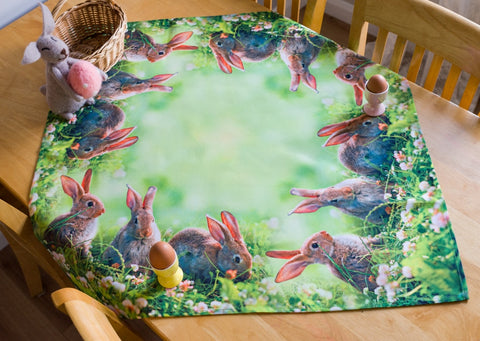 Easter Tablecloth with Rabbits 85 x 85cm