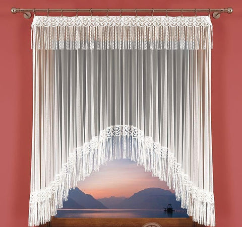 Jardiniere Net Curtain with Guipure/Lace - Amazing Curtains