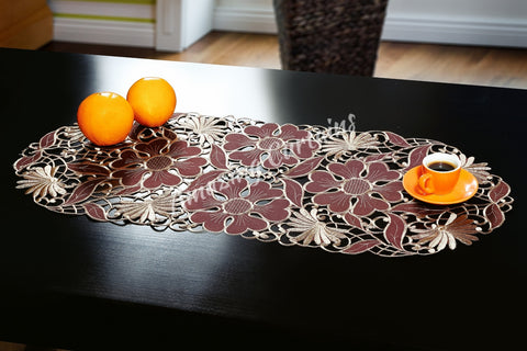 Small Table Runner - Brown 40 x 90cm - AmazingCurtains