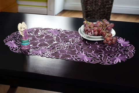 Small Table Runner - Purple 40 x 90cm - AmazingCurtains