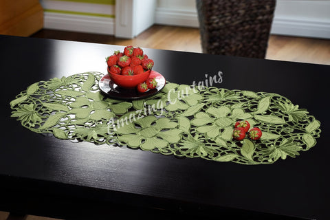 Small Table Runner - Green 40 x 90cm - AmazingCurtains