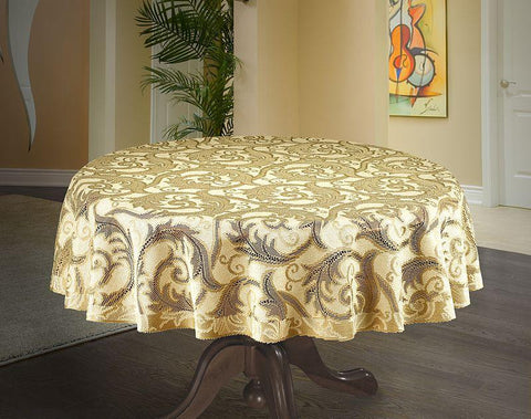 Round Gold Tablecloth 150cm - Amazing Curtains