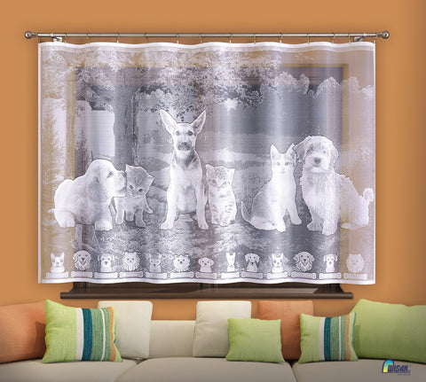 "Jardiniere Net Curtain ""Friends"" - Amazing Curtains"
