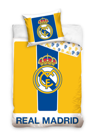 Official Bedding Set - Real Madrid Yellow - Amazing Curtains