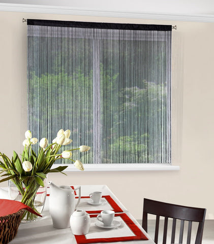 String Curtains - Black - Amazing Curtains