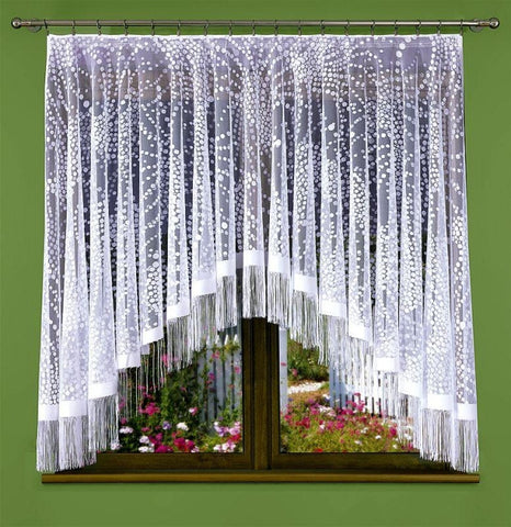 Jardiniere Net Curtain with Strings 170 x 180cm - Amazing Curtains