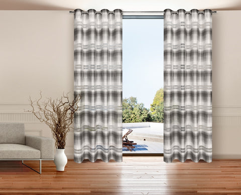 Pair of Striped Curtains - 230cm - Amazing Curtains