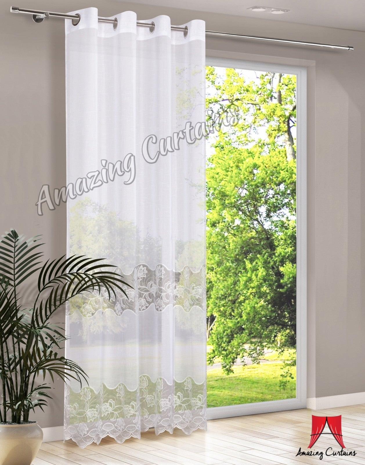 curtains l decorations product tab deconovo for and sheer voile rod panels inch back curtain girls home curtians x pocket room vanilla w