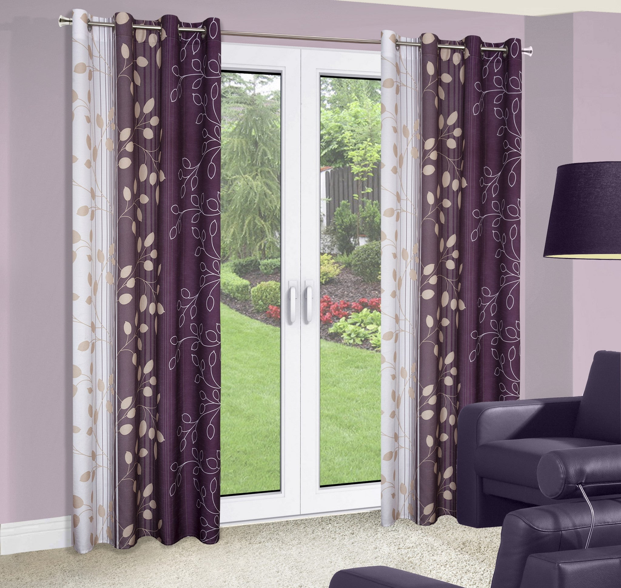 embroidered from garden rustic modern butterfly in tulle drop home window finished curtain screening room curtains living red drapes product for item purple fabric