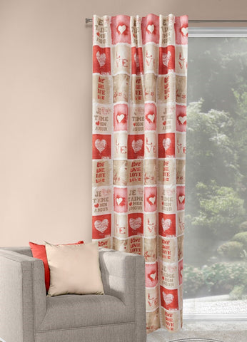 "Modern Curtain Panel ""Love"" - Amazing Curtains"