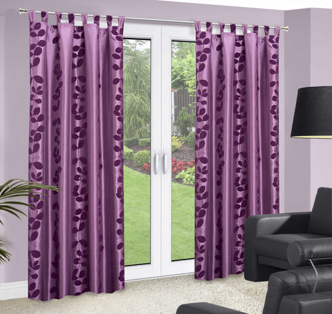 Purple Curtains with Floral Pattern - Amazing Curtains