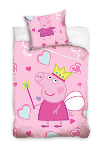 Peppa Pig Toddler Cot Bed Duvet Cover 100 x 135cm - Amazing Curtains