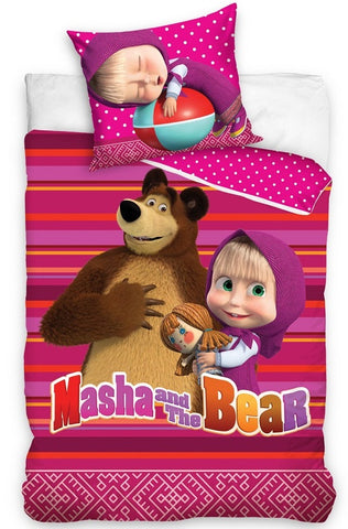 Masha And The Bear Single Bedding Set - Amazing Curtains