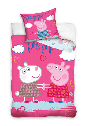 Peppa Pig Duvet Cover Single 140 x 200cm - Amazing Curtains