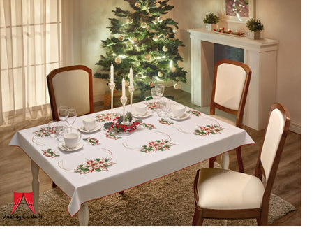 Large Christmas Tablecloth - 145 x 220cm - Amazing Curtains