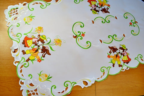 Easter Tablecloth with Easter Bunnies - 60 x 120cm - Amazing Curtains