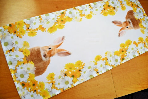 Easter Table Runner with Bunnies - 40 x 90cm - Amazing Curtains