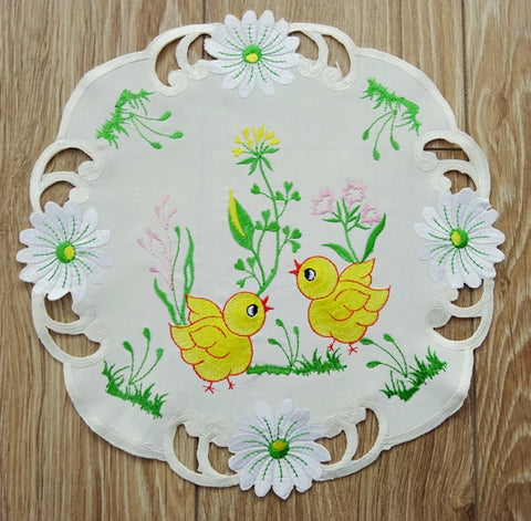 Easter Doily/Placemat - 30cm Chicks #2 - Amazing Curtains