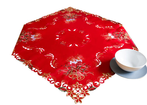 Red Square Christmas Tablecloth - Amazing Curtains