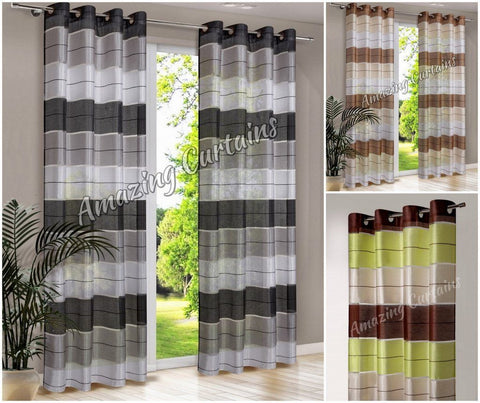 Pair Ready Made Striped Curtains - AmazingCurtains