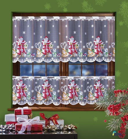 Cafe Net with Santa Pattern - Amazing Curtains