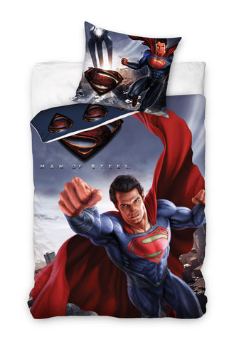 Superman / Man of Steel Bedding Set 140 x 200cm