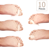 10 piece Soft Gel Bunion Spacer Kit For Fast Bunion Pain Relief | One Size Fits All