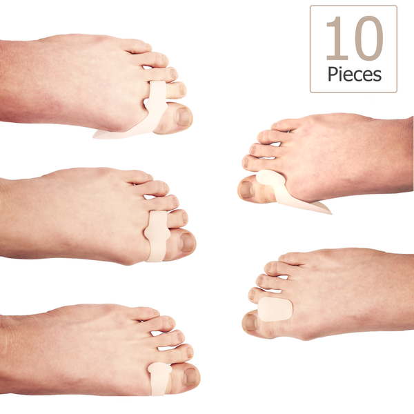 Penkwin® | 10 piece Soft Gel Bunion Spacer Kit For Fast Bunion Pain Relief
