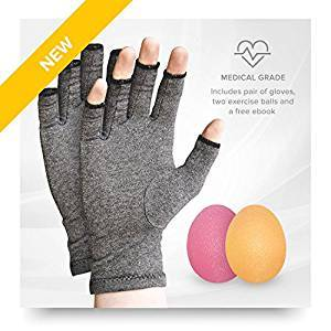 Penkwin® | 3 Piece | Arthritis Gloves and Physio Ball - Comforting Arthritis Pain Relief | 3 Sizes