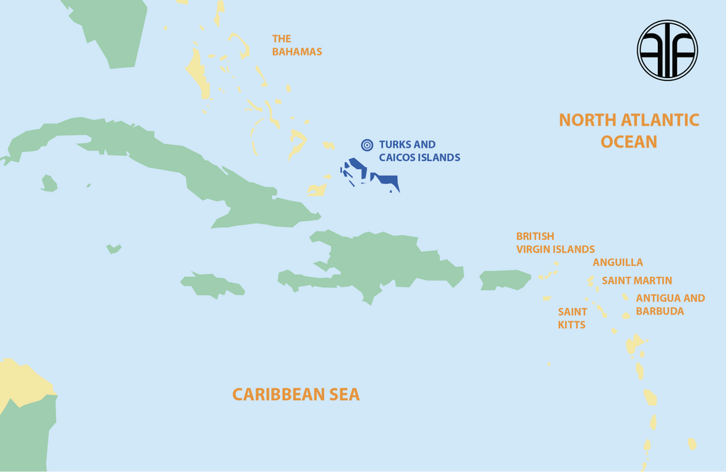 where is turks & caicos map
