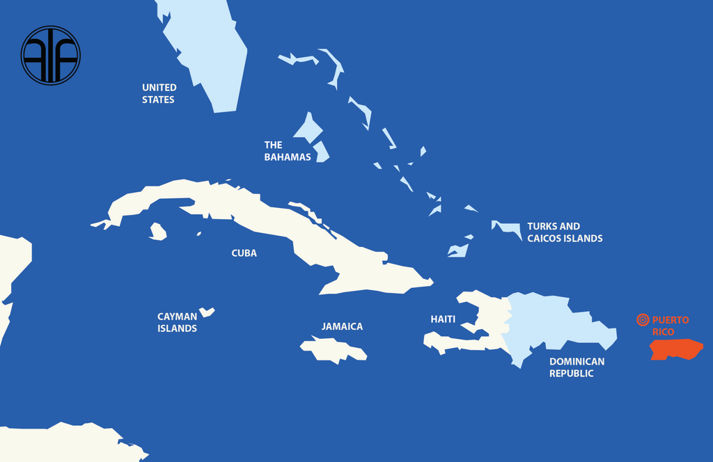 where is Puerto Rico map