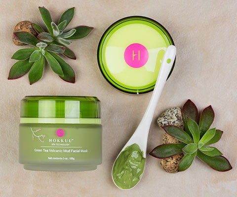 MULTI-JAR DISCOUNT Hokkuu Spa Technology Green Tea Volcanic Mud Mask. FREE PRIORITY SHIPPING!