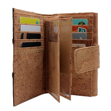 Hokkuu™ Luxurious Cruelty-Free Cork Leather Wallet
