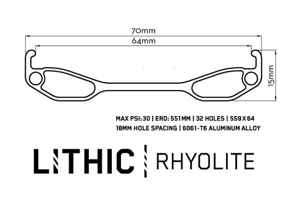 Lithic Rhyolite Aluminum Rim cross section illustration