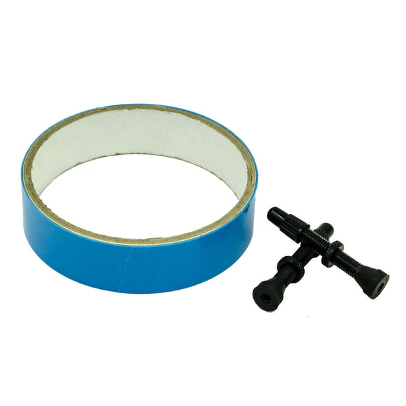 tubeless tape and 2 tubeless valve stems