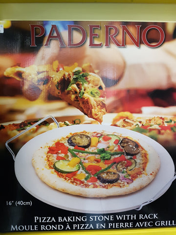 PADERNO PIZZA STONE WITH RACK